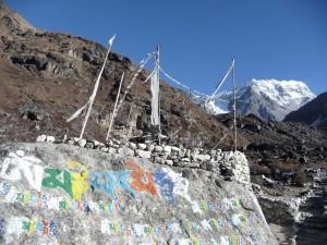 Trek Langtang , pierre sacrée